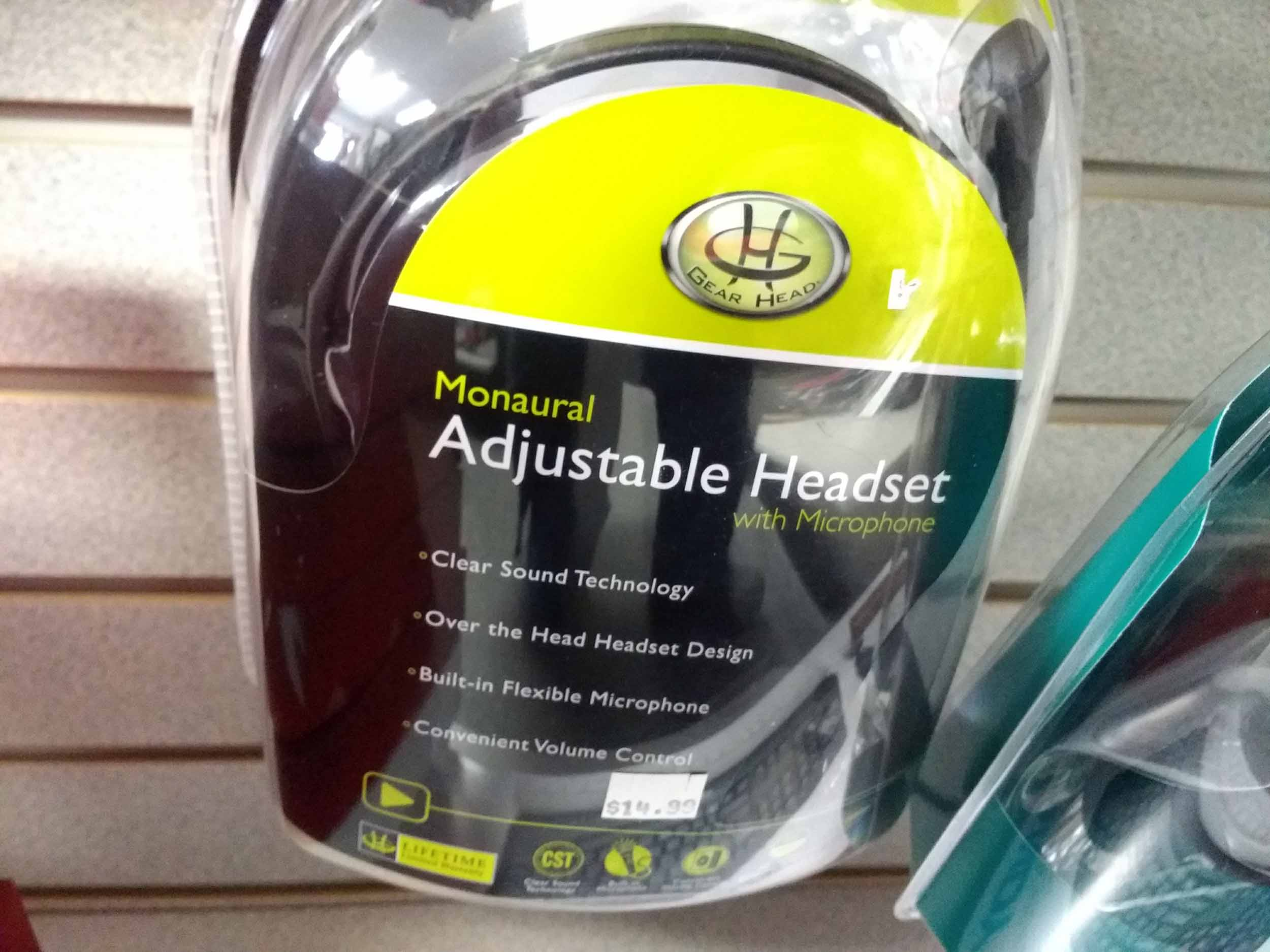 Get a great fit with these adjustable headphones with microphone.