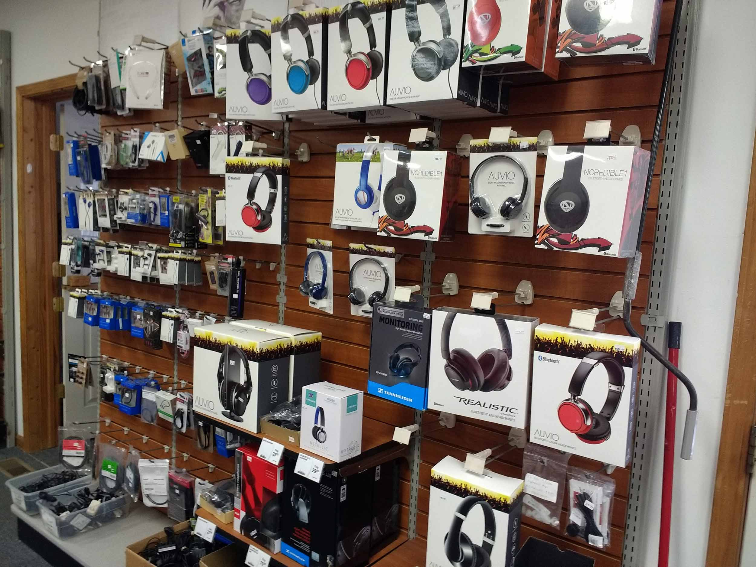 We have a complete selection of headphones and earbuds including Bluetooth and wired models.