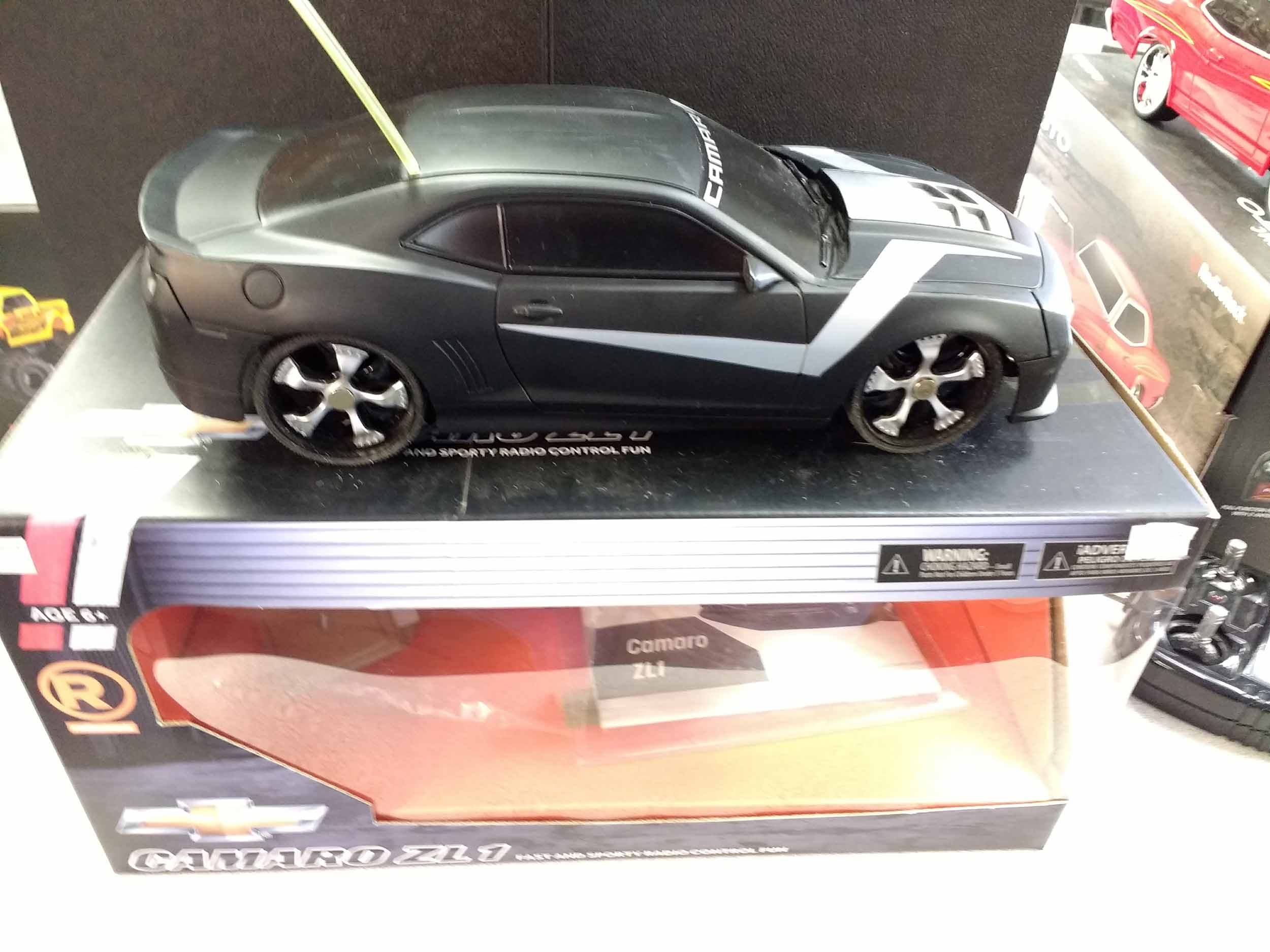 A hot late model contemporary muscle car makes great radio control fun.