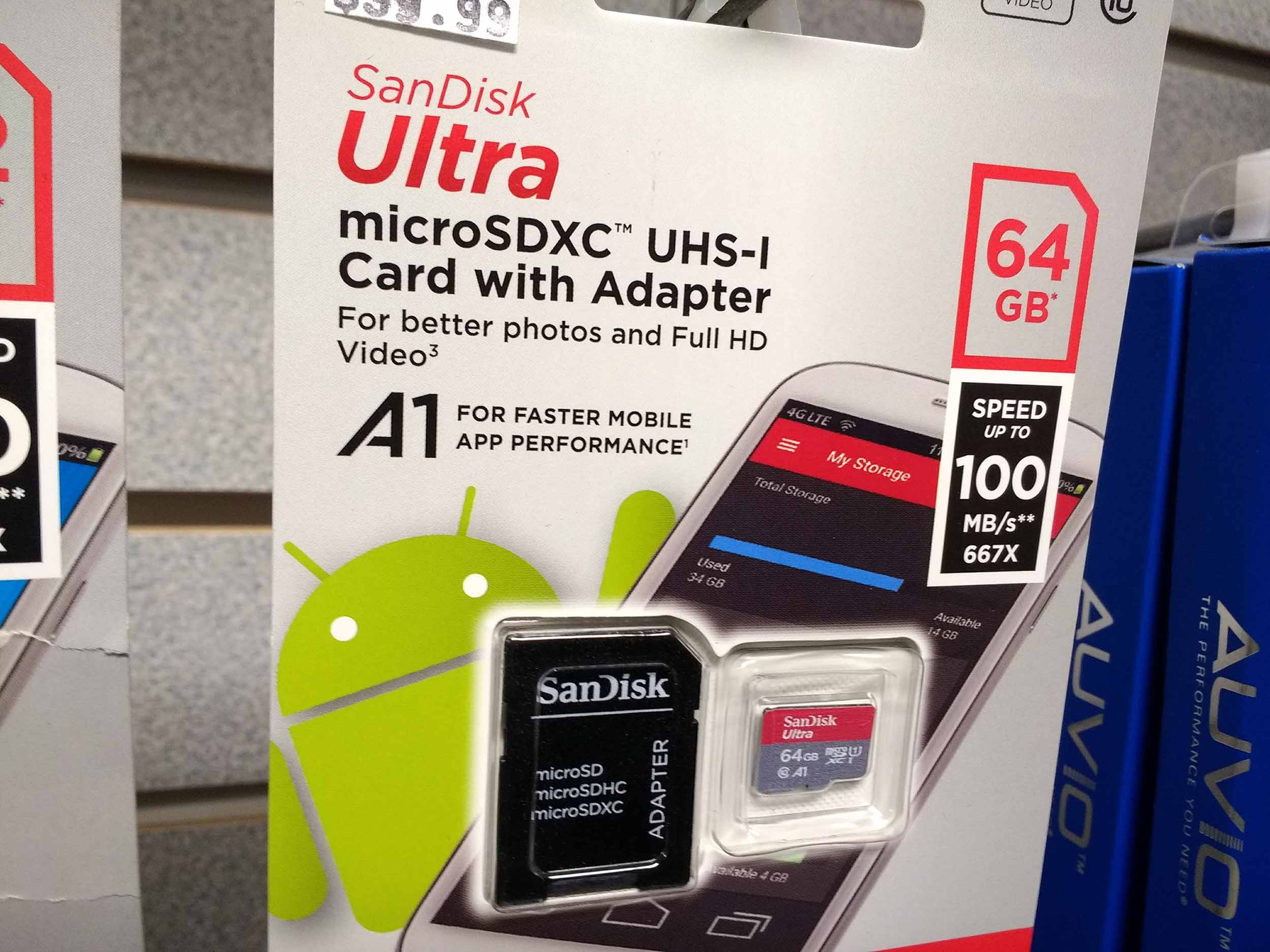 Large capacity SD cards and flash drives are always in stock and often on sale.