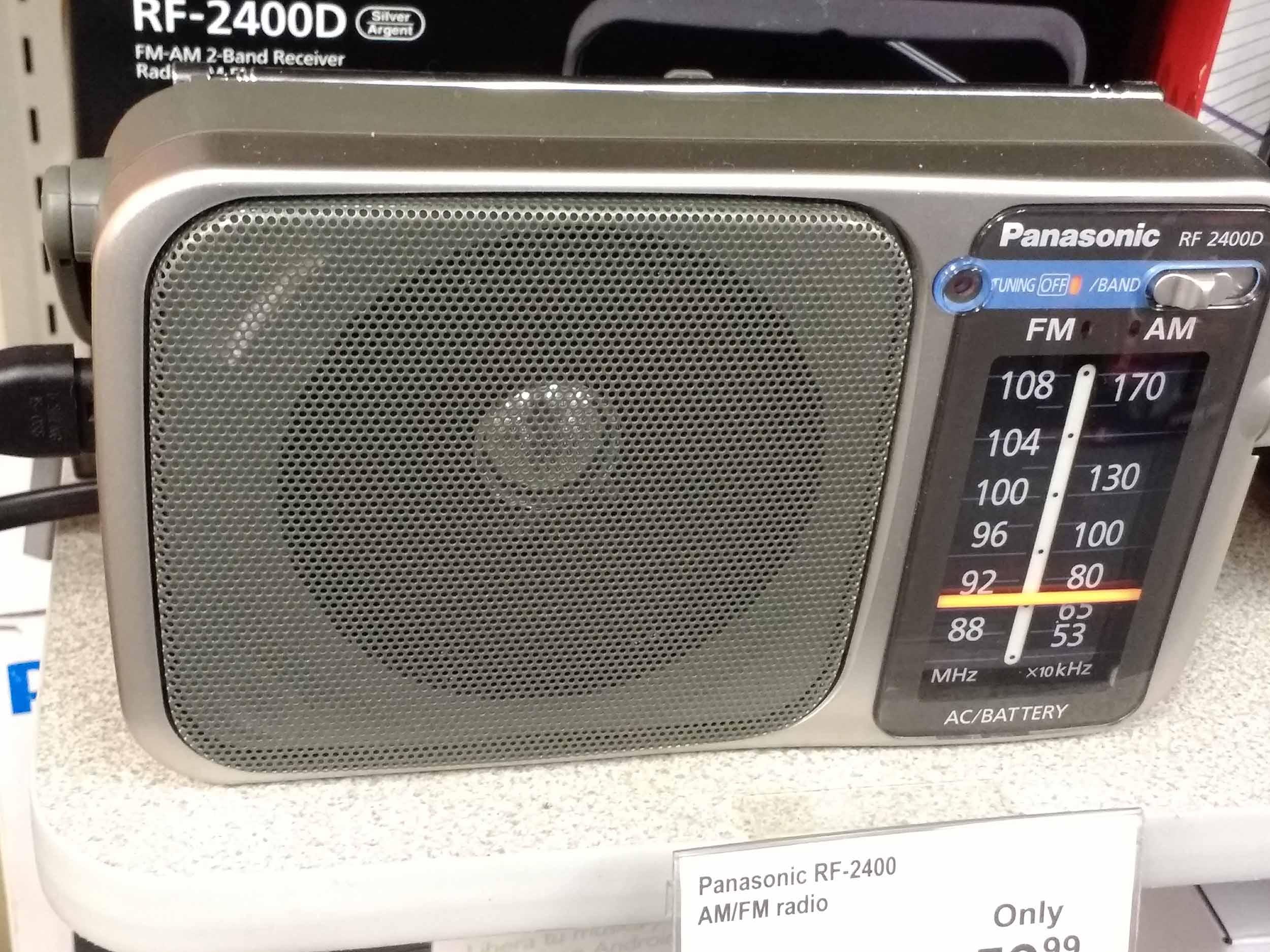 We carry brand name radios like this Panasonic.