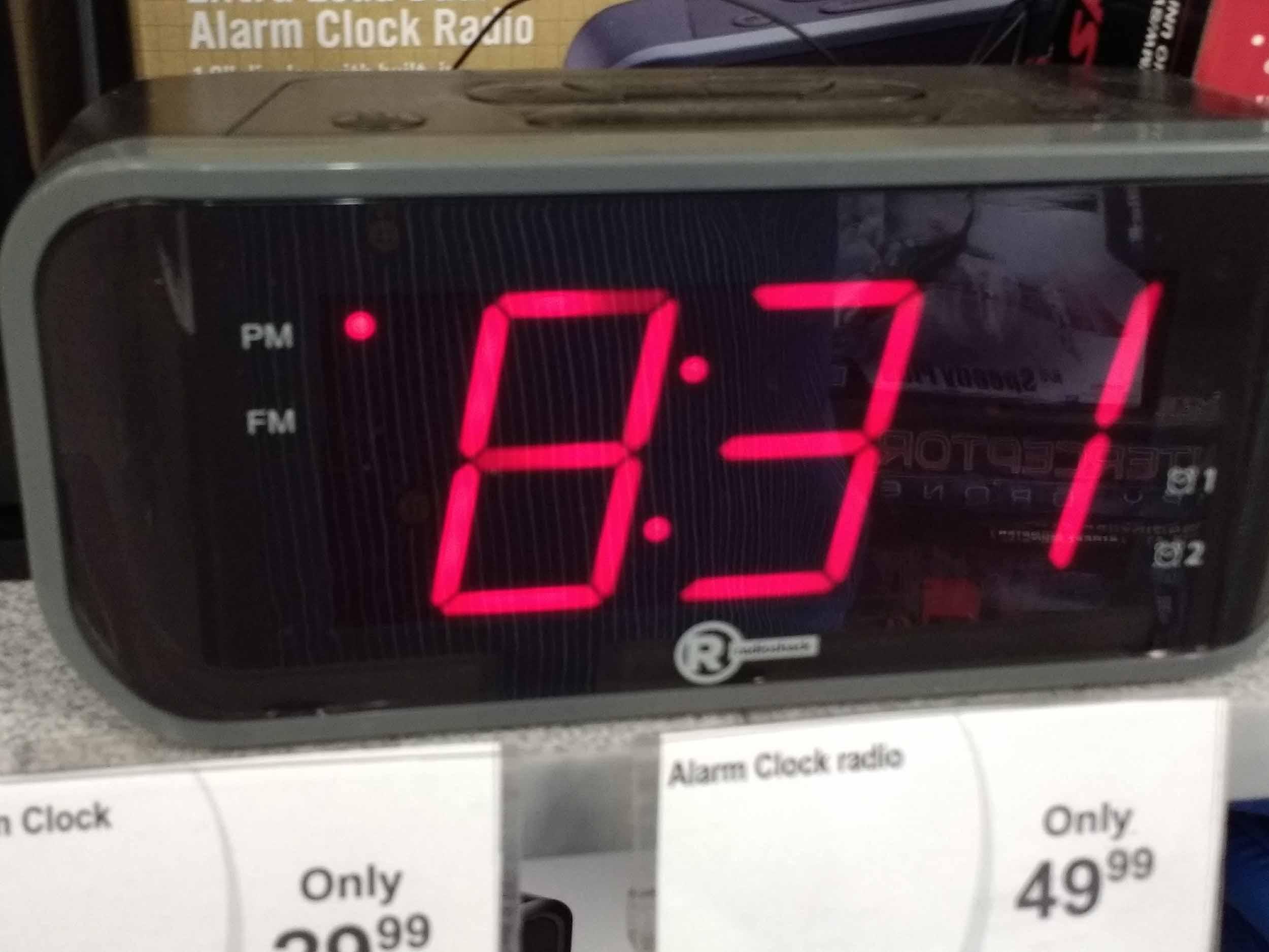 We have clock radios in stock.