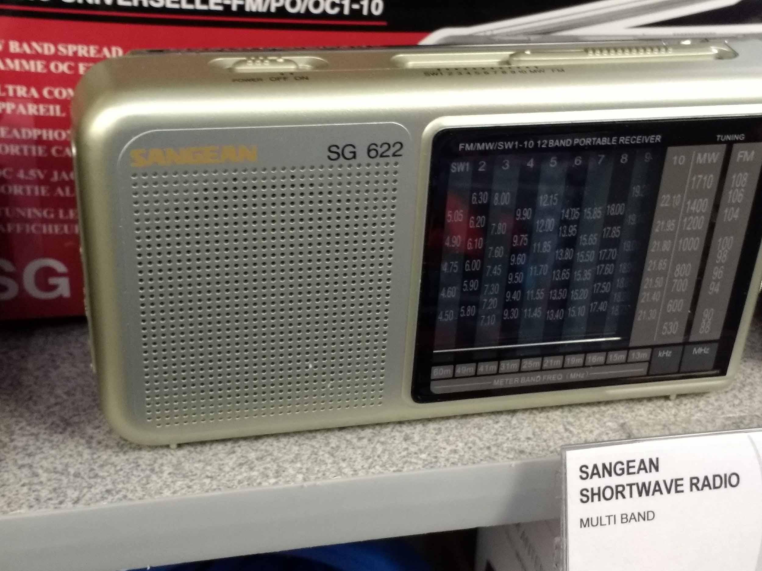 We have shortwave radios for international broadcasts