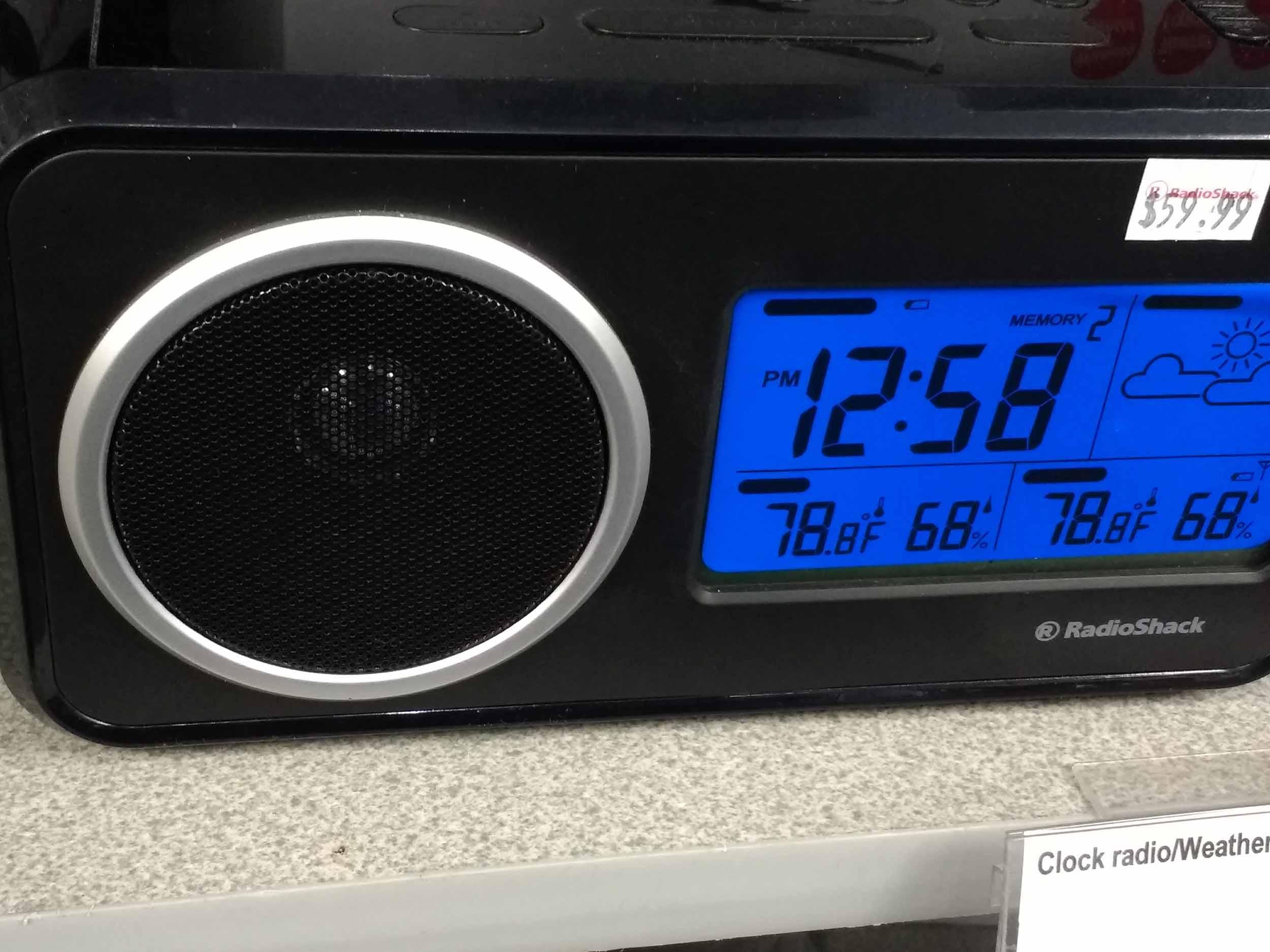 Clock radio with digital weather