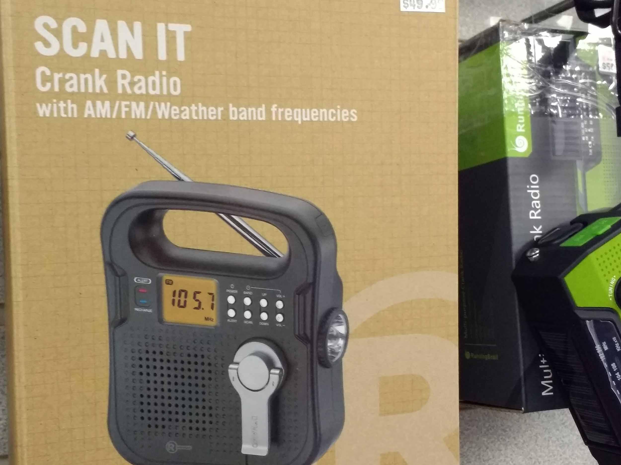 Crank radio for remote operation