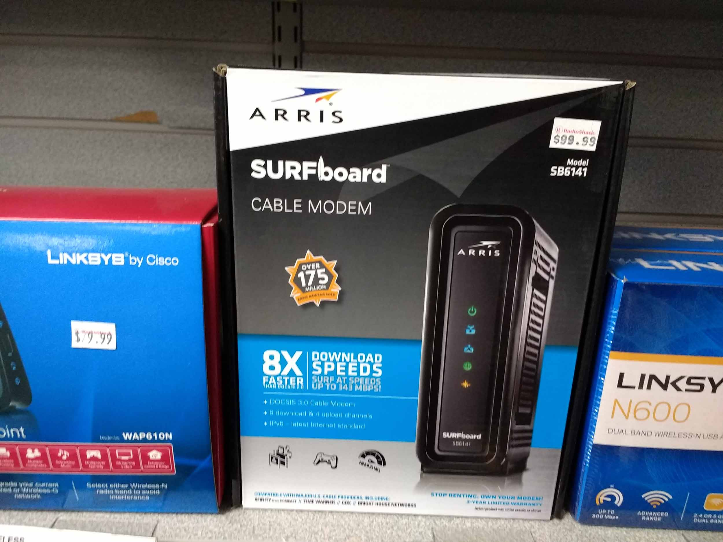 Cable modems in stock.