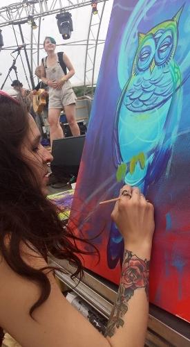 Live painting at harmony park, Geneva MN. Revival music festival.