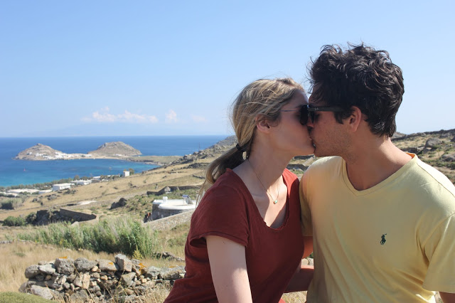 (I apologize for the kissing pictures. For some reason all the Greeks love making us kiss in photos. I don't think Garner minds it.....)