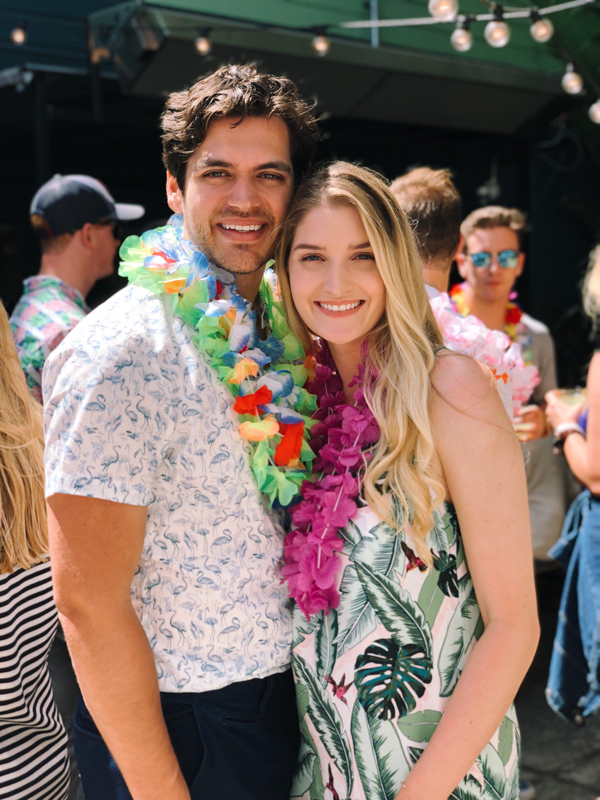 Wearing:  Hawaiian midi dress