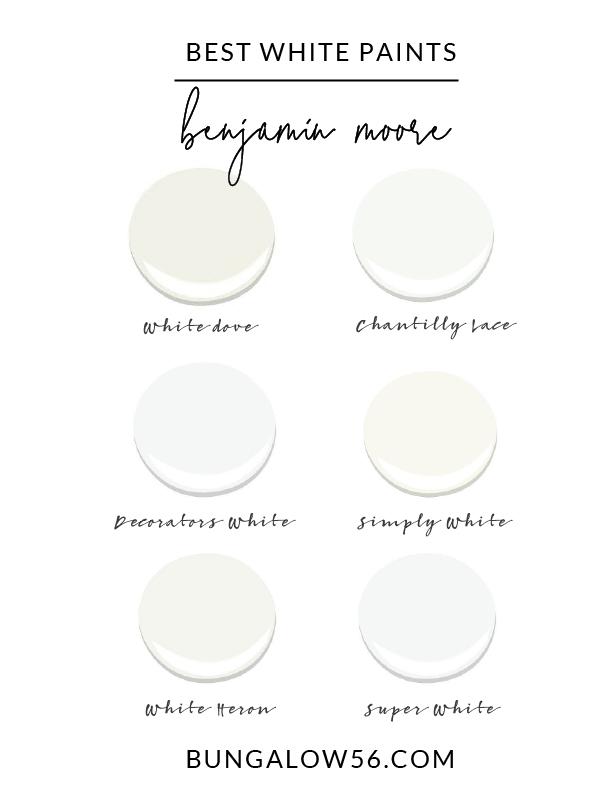 Best White Paint Colors Bungalow 56