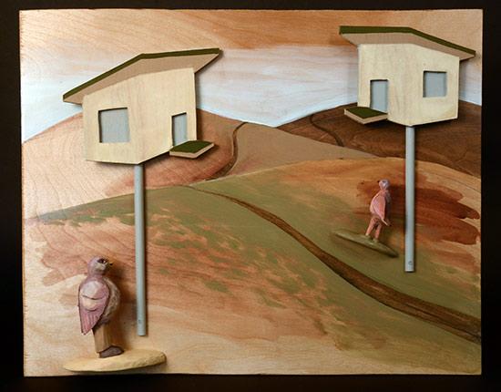"Tract Housing, 2011 16""x20""x4"""