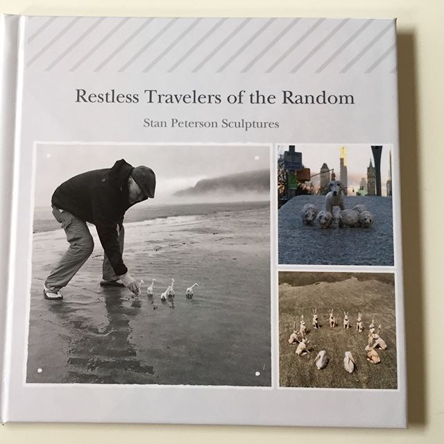 "New Book...... A chronicle of art for ""Safe Harbor"", a solo at Imogen Gallery in June.  #artoftravel #beachwalks #woodsculpture #imogengallery #photoshoot #artistsoninstagram  Please DM me for your copy."