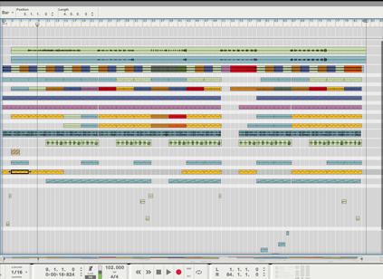 Song Arrangement - Arrange your audio and MIDI recordings into a basic composition.