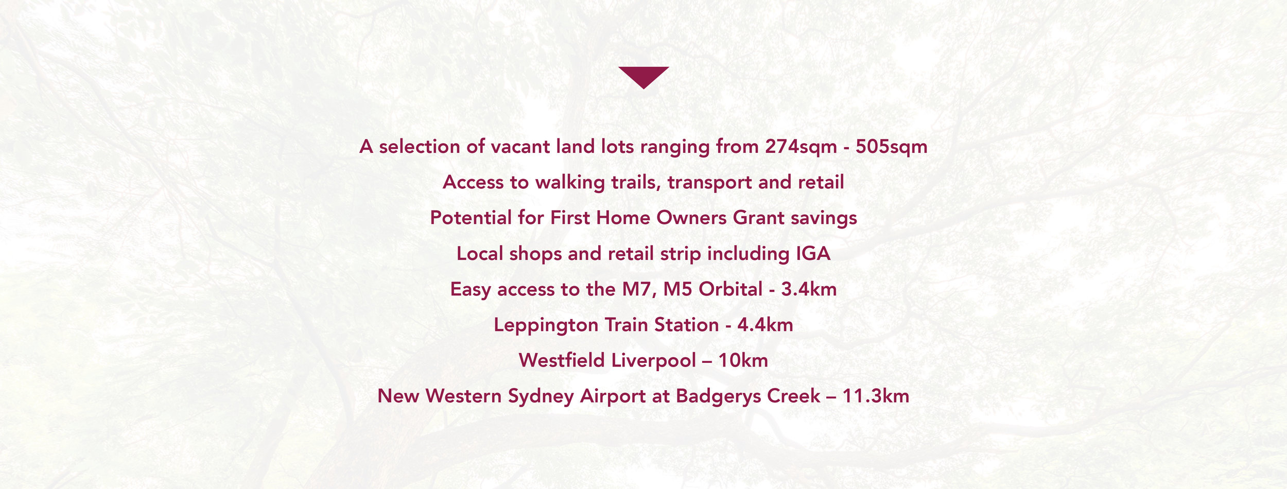 Located on the border of the Western Sydney Parklands and Middleton Grange