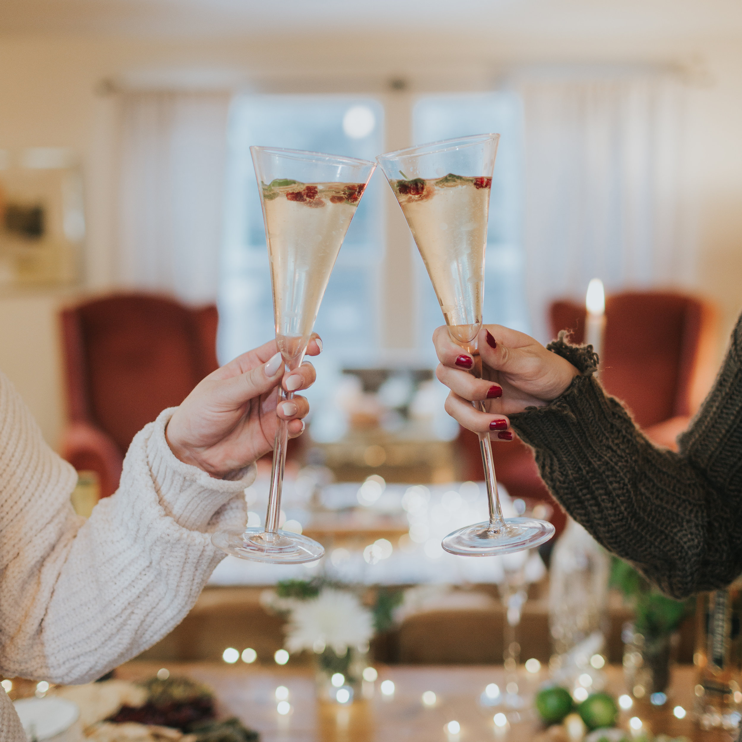 - Simple champagne flutes upgrade any cocktail to a celebration & there is always a reason to celebrate