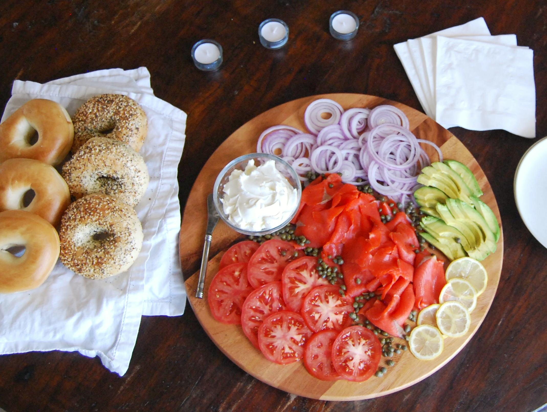 HungryTwenties Bagel and Lox Platter