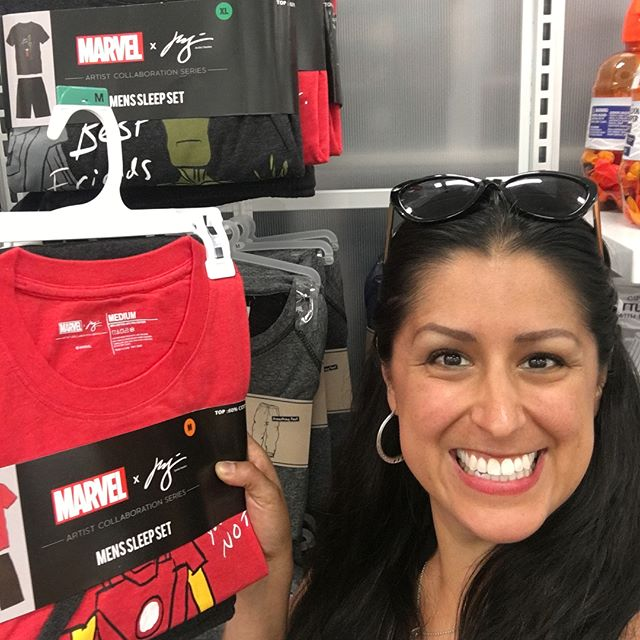 How crazy cool  is it when you're at Target and see the line of clothing with your friend's designs?!? 🙌🏼 - Huge shoutout to one of our best friends @clausstudios on the launch of his artist collaboration series with Marvel - You can pick up these bad boys at your local 🎯 or online. I'm actually going to have to jump online to get the #spiderman set and the #blackpanther set because they are already sold out at this store!  #target #marvel #CLAUS #congrats #proudfriend