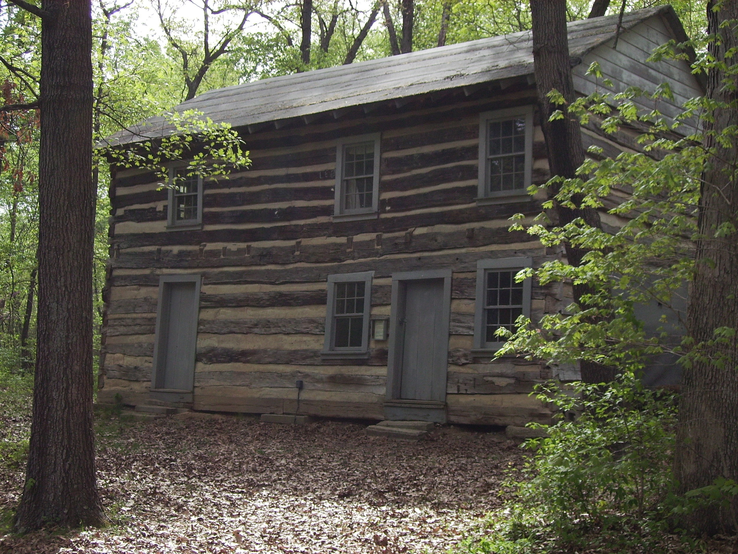 Jacob's Well Stagecoach Inn - This inn was built in 1828 part of a stagecoach stop located on the old Egyptian Trail which ran from Rockford, Illinois to Cairo, Illinois. It has been said that the famous and not so famous have slept here such as Abe Lincoln and Jesse James. A black and white movie featuring Jesse James was made in the 1920's when the inn was still on the trail.Rudolph Dust (Rudolph died at the age of 100) of Effingham, Illinois said he ate many a meal here as a boy. For five cents the butcher furnished the meat and the innkeeper furnished the vegetables in season and all the beer one could drink. The butcher and innkeeper divided the profit.The original inn had 3 floors, with the upper level being reached by climbing a ladder from the outside. The 3rd floor was not added when it was rebuilt.