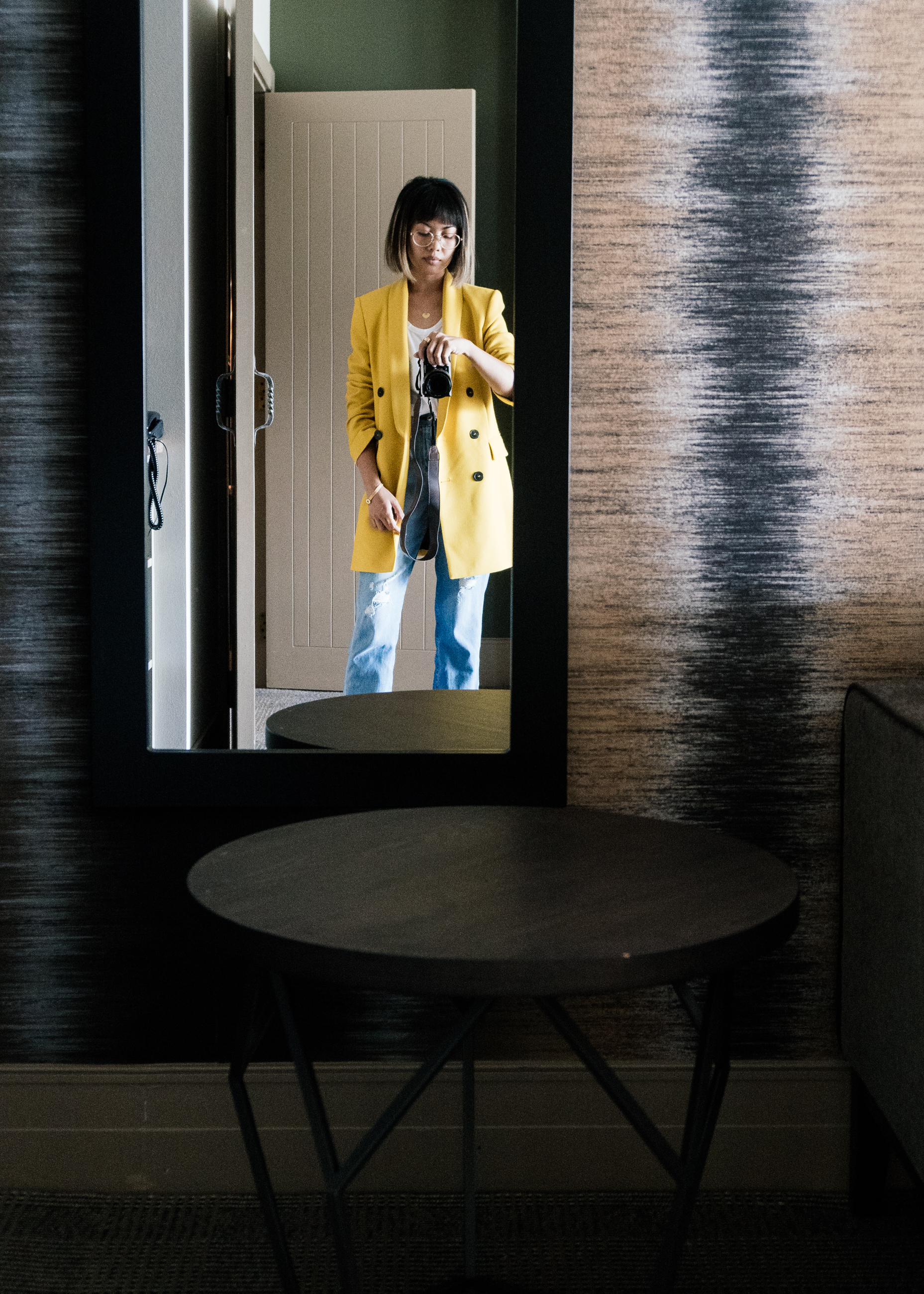 Checking in at  Hotel St. Moritz . Think luxe chic cabin where they have soft cottony robes and lavender pillows. Dreams.