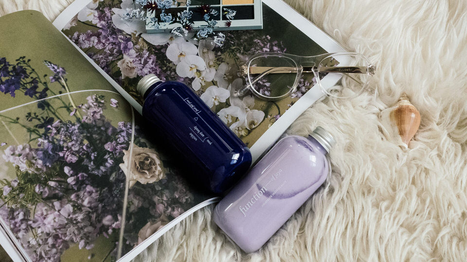 Purple shampoo and conditioner from Function of Beauty NZ