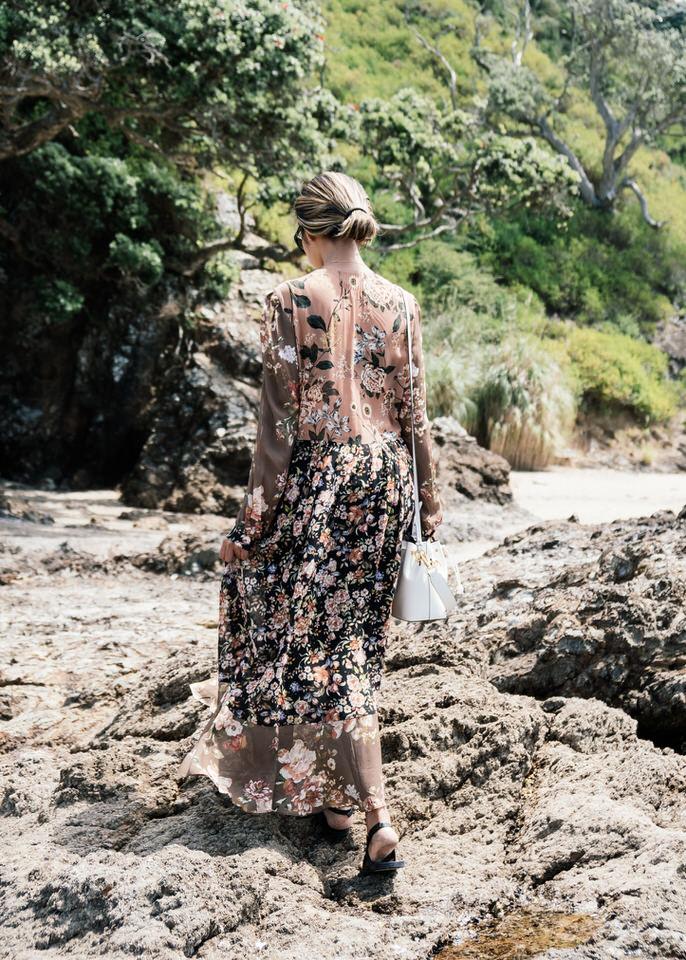 Zara dress, Valia Gabriel sandals, Fendi bag
