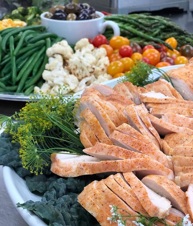 The deconstructed Chicken Salad ... brilliant idea Maja Clark! Catering by Green Cafe #keepitsimple