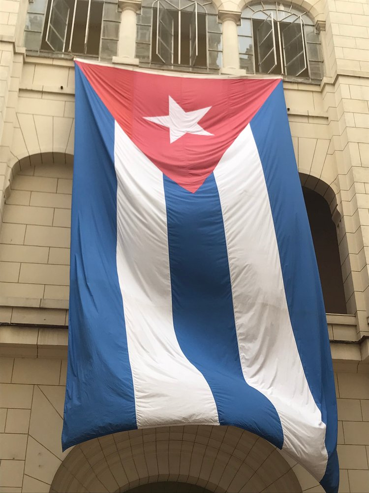 Cuban flag in Havana