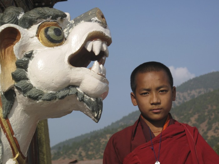 Young Bhutanese Monk
