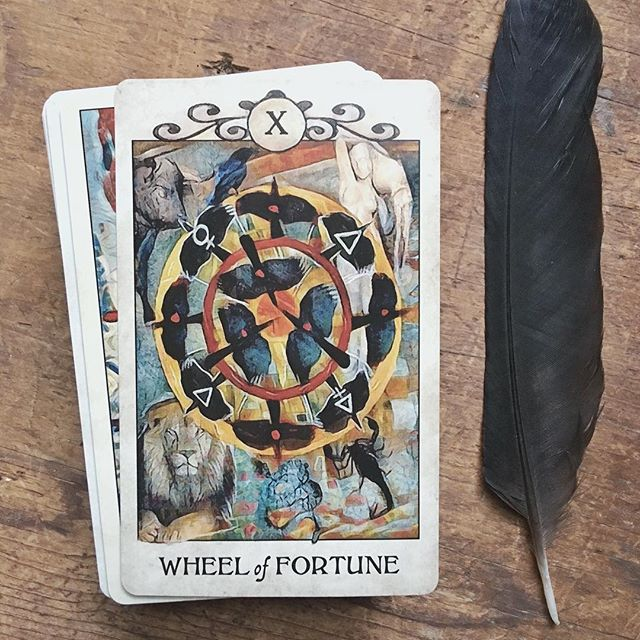 Round and round and round goes the Wheel of Destiny. Fortune and fate… some things are out of your control, and sometimes you need to take matters into your own hands. ✨👁✨ . . . #tarottribe  #tarot #dailytarot #tarotreadersofinstagram #taroteverydamnday #divination #oracle #fortuneteller #cartomancy #tarotcards #crowtarot  #oraclecards #pagan #pagans #pagansofinstagram #witch #witchesofinstagram #witches