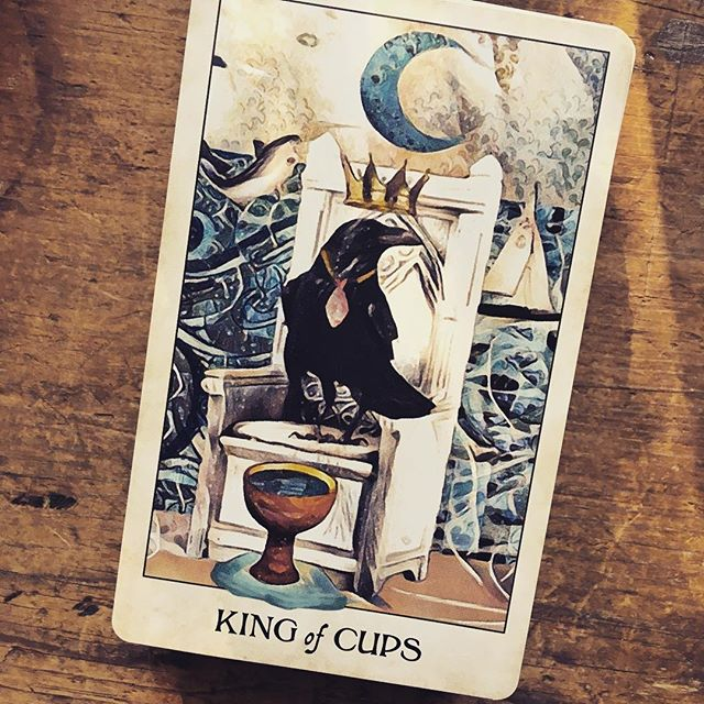 Tap into the energy of the King of Cups today: you are in control and can ride out life's emotional ups and downs with ease. . . . #tarottribe  #tarot #dailytarot #tarotreadersofinstagram #crowtarot #divination #oracle #fortuneteller #cartomancy #tarotcards  #oraclecards #pagan #pagans #pagansofinstagram #witch #witchesofinstagram #witches
