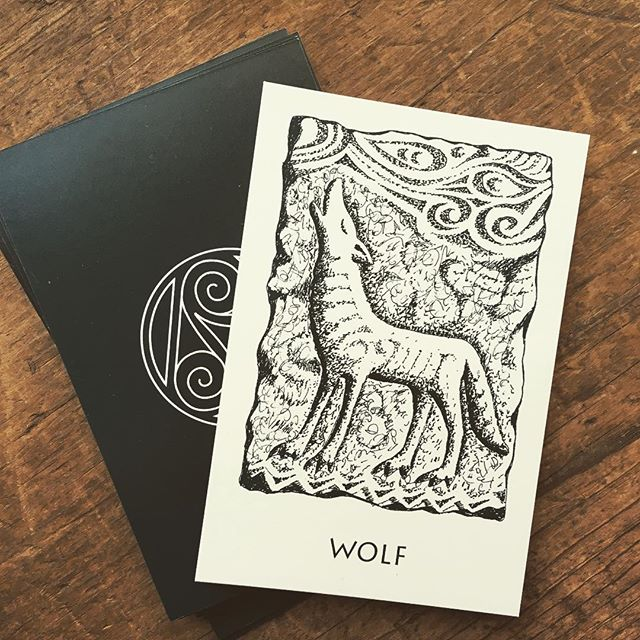 Fierce and faithful is Wolf. It is said the Morrigan took this form, especially in battle as she did in the legend of Cu-Chulainn. Wolf can also represent intuition and the shadow self; there is strength and courage to be found in recognizing and accepting the wild nature within. 🖤 . . . #sacredanimals #wolf #celticsacredanimals #celticpath #celtic #celts #celticpagan #divination #oracle #oraclecards #pagan #pagans #pagansofinstagram #witch #witchesofinstagram #witches