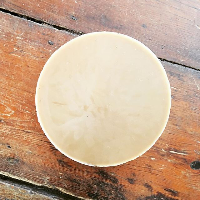 "A full moon of beeswax. ☺️ Getting ready for Imbolc candle making this weekend. I don't keep bees anymore, and sadly this 12"" round is the last of my wax. 😭 . . . #pagan #pagansofinstagram #pagans #imbolc #celticpath #celticpagan #candlemaking #beeswax #beeswaxcandles #witch #witchesofinstagram #witches #sabbats"