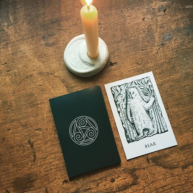 Bear heralds the first kindling of spring, stirring from her deep winter slumber. . . . #imbolc #sacredanimals #celticsacredanimals  #celticpath #celtic #celts #celticpagan  #oracle #oraclecards #pagan #pagans #pagansofinstagram #witch #witchesofinstagram #witches #fortuneteller #cartomancy