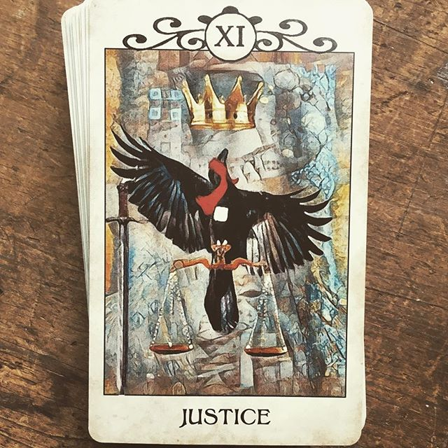 Justice. Seek balance today and trust in a fair outcome. ⚖️ . . . #tarottribe  #tarot #dailytarot #tarotreadersofinstagram #taroteverydamnday #divination #oracle #fortuneteller #cartomancy #tarotcards #crowtarot  #oraclecards #pagan #pagans #pagansofinstagram #witch #witchesofinstagram #witches