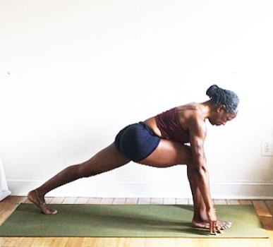 ashwa sanchalanasana. (low lunge pose)
