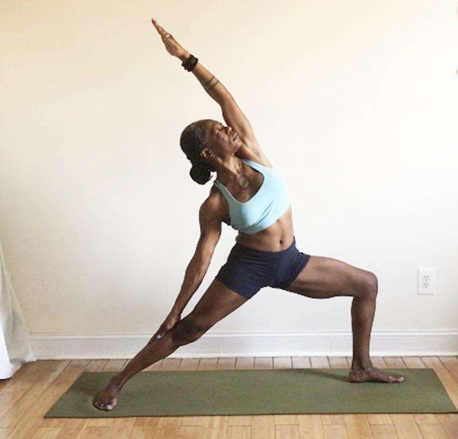 viparita virabhadrasana. (reverse warrior pose): side bend NOT backbend.