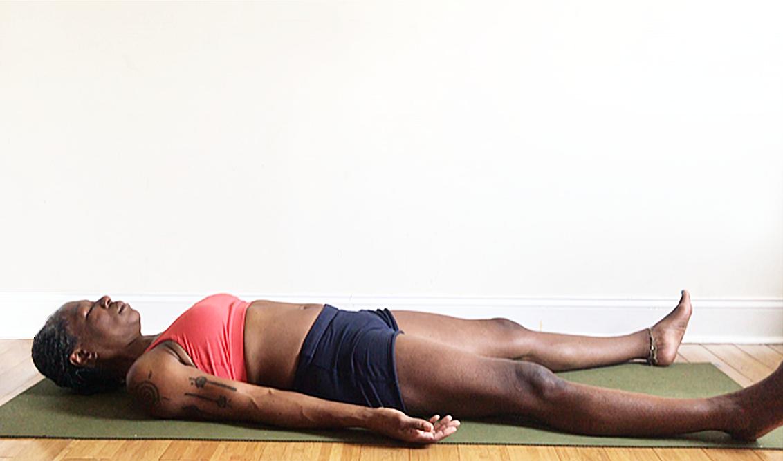 savasana. (resting pose): rest, breathe and restore