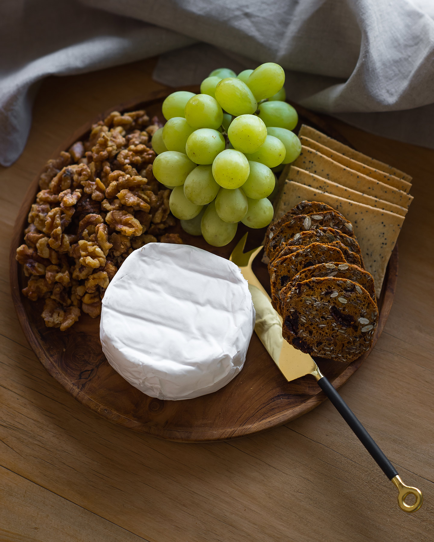 Sample cheese plate