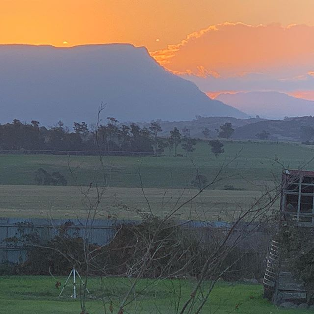 I'm not much of a photographer but I don't think even I could mess this one up #Tasmania #sunset #oldforestvalefarm #cressy #autumn #farmlife #garden #oldforestvalefarmstay