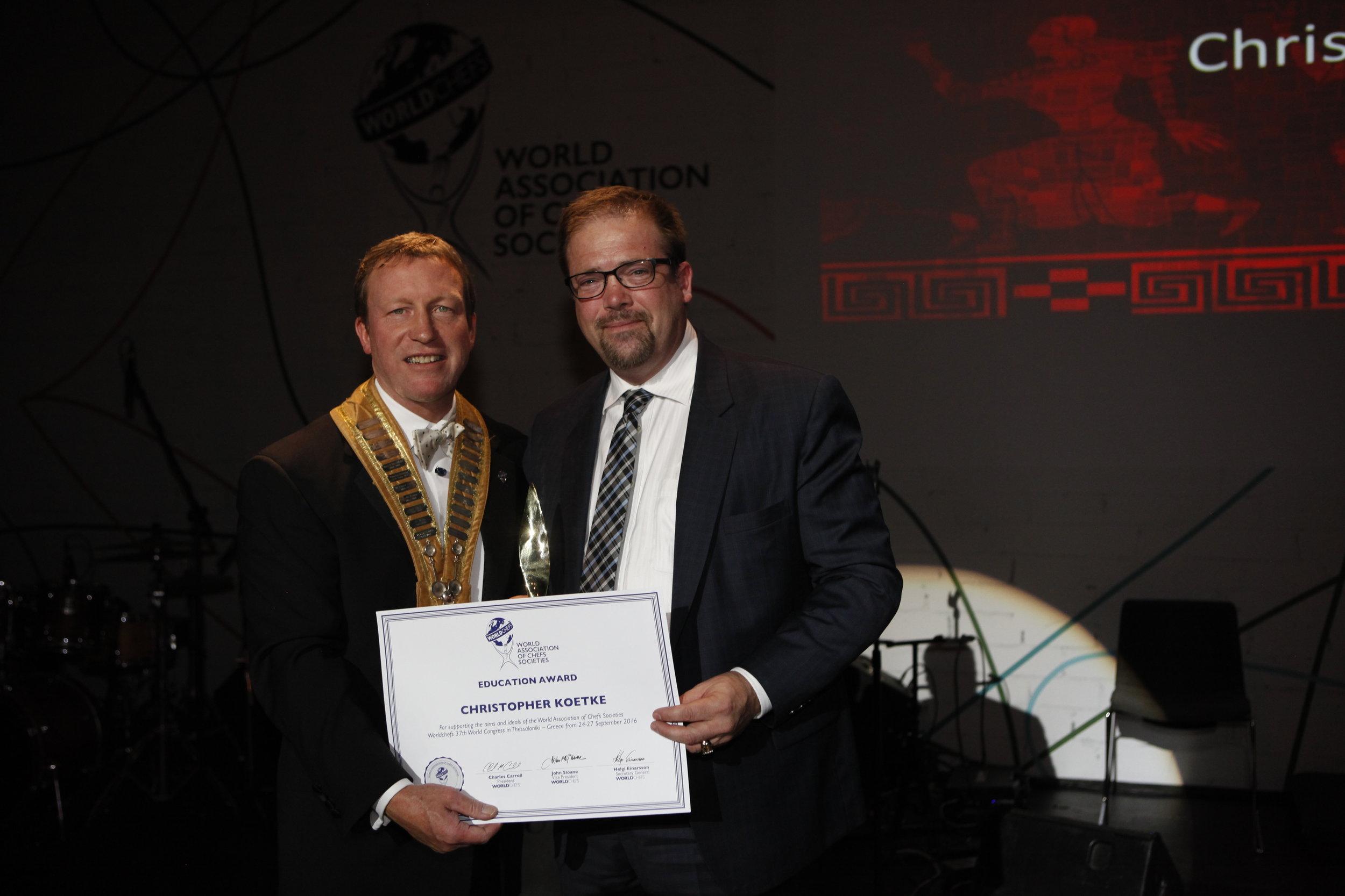 Educator of the Year Award, World Chefs 2016.JPG