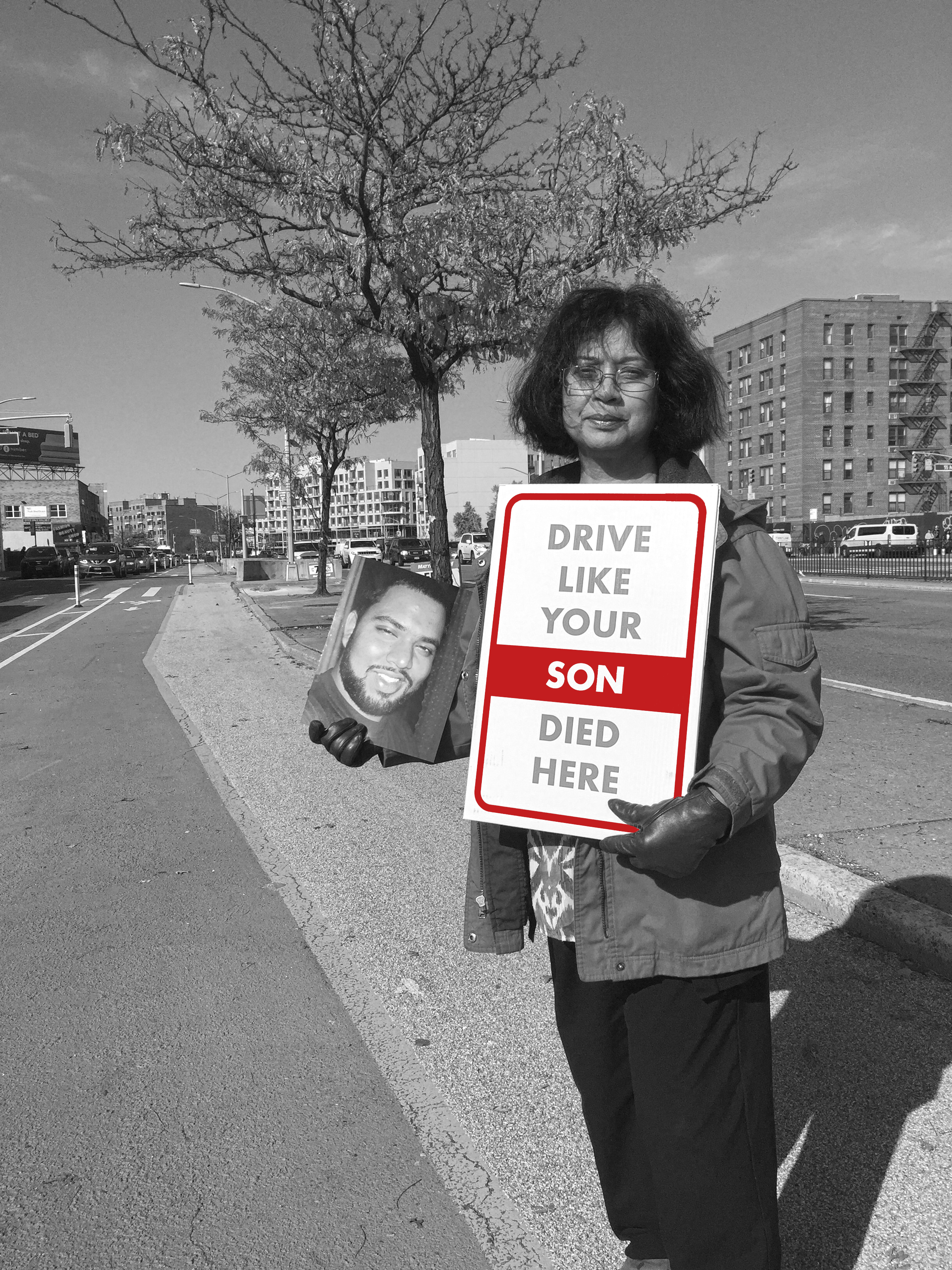LIZI RAHMAN, ASIF'S MOTHER, ASKS YOU TO DRIVE LIKE YOUR SON DIED HERE. HERS DID.