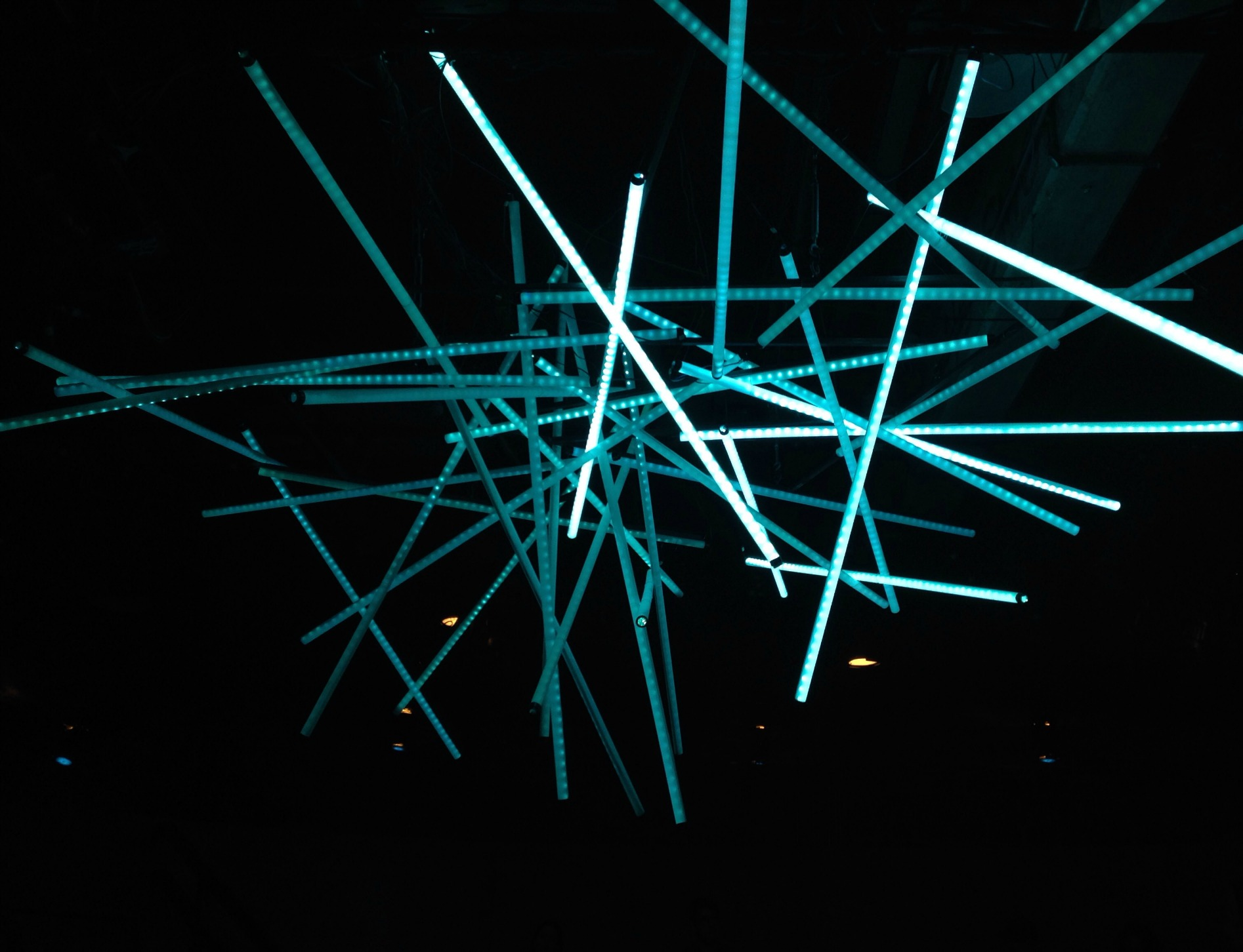 Light installation from Constellations, Studio Theater, DC