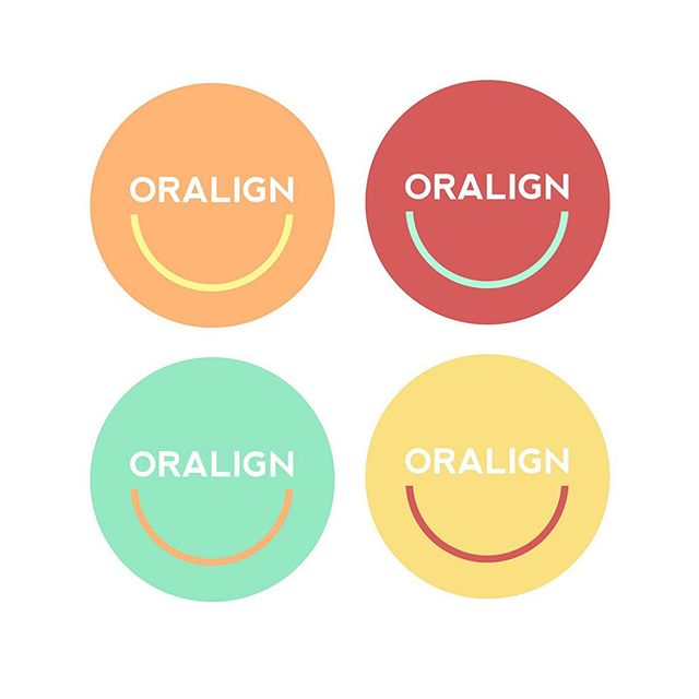 Four logo iterations for an invisible braces company.
