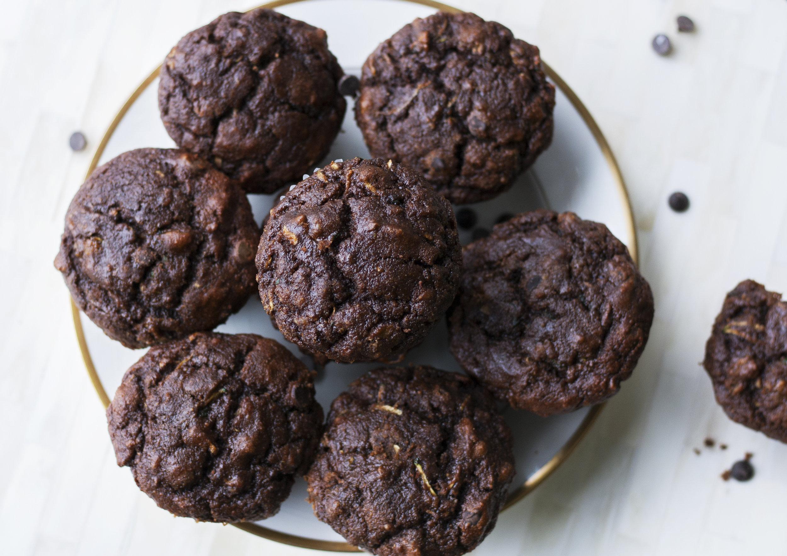 Plate of Chocolate Zucchini Muffins_II.jpg