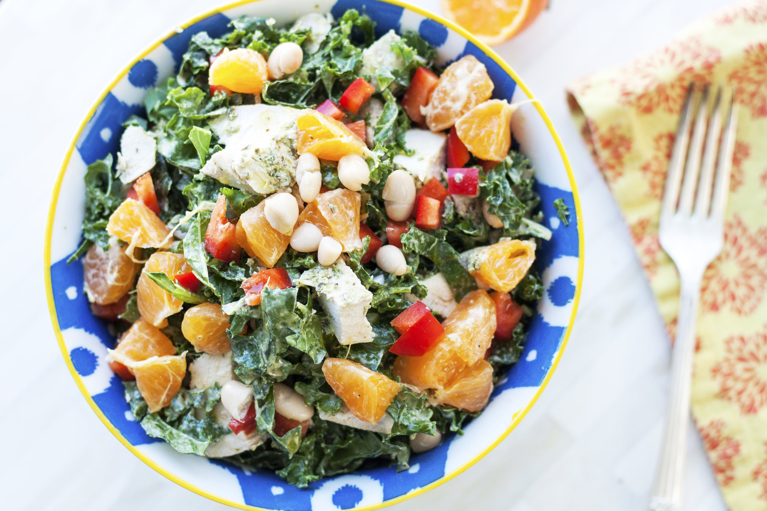 Lemon Tahini Kale Salad by Alavita Prenatal Nutrition