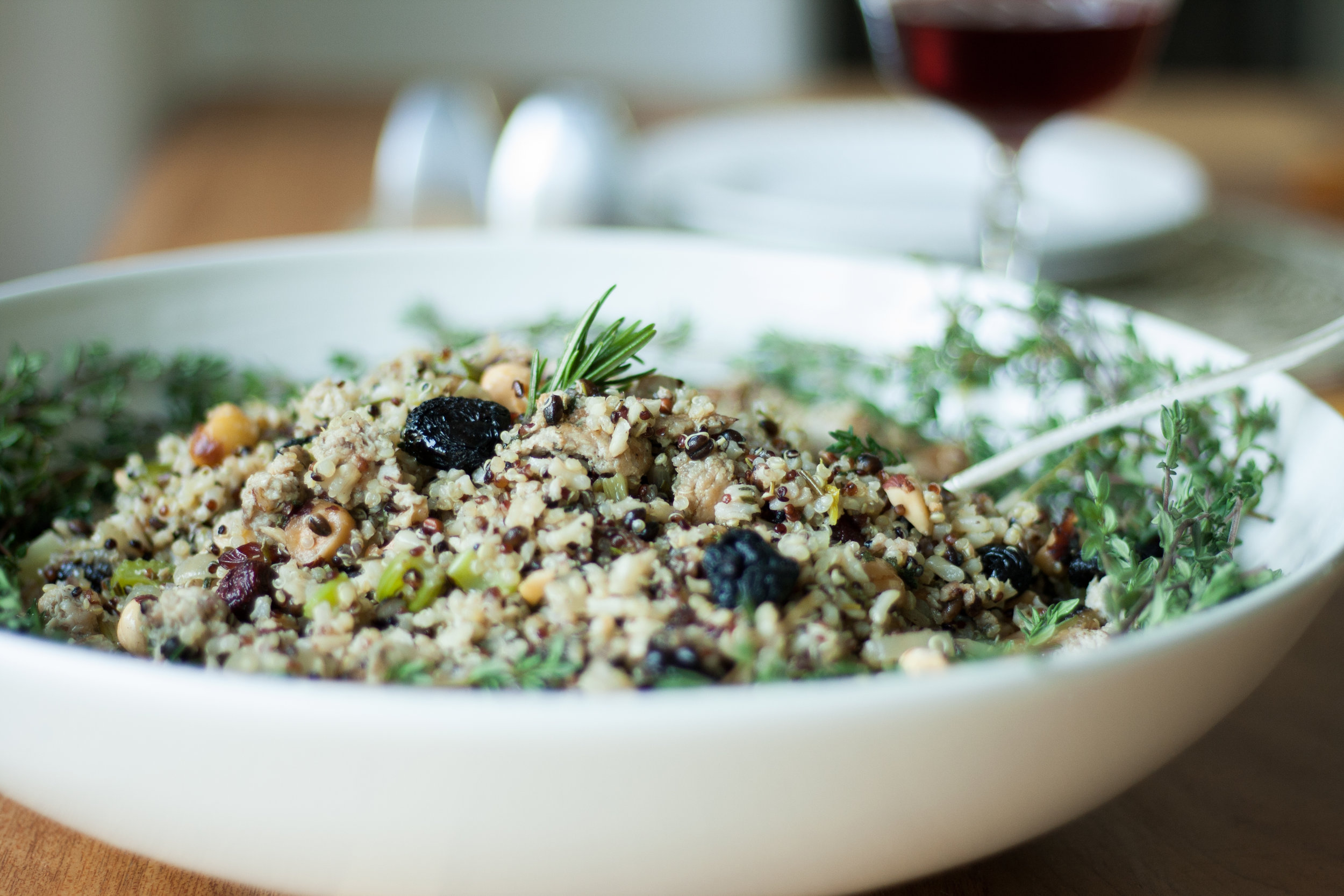 Wild Rice Stuffing with Dried Cherries_By Alavita Prenatal Nutrition
