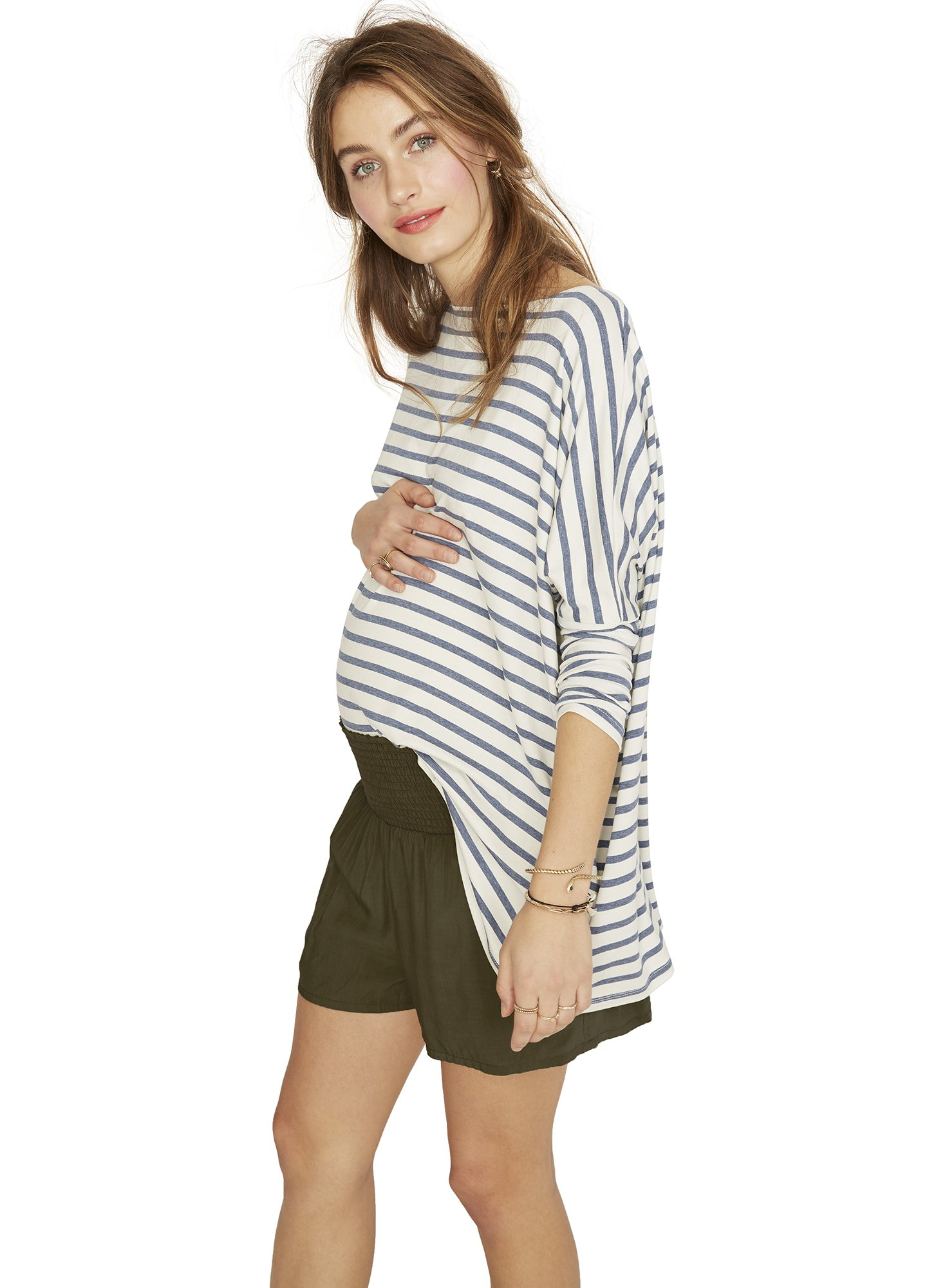 The longsleeve tee - I would own WAY more items from Hatch Collection if it was not so expensive, but this trendy high-end line has some amazing essentials that can carry you all the way through pregnancy. I bought The Longsleeve Tee in my first trimester and have worn it every week. For special occasions they also make beautiful dresses and I am pretty much obsessed with all of their maternity jumpsuits.