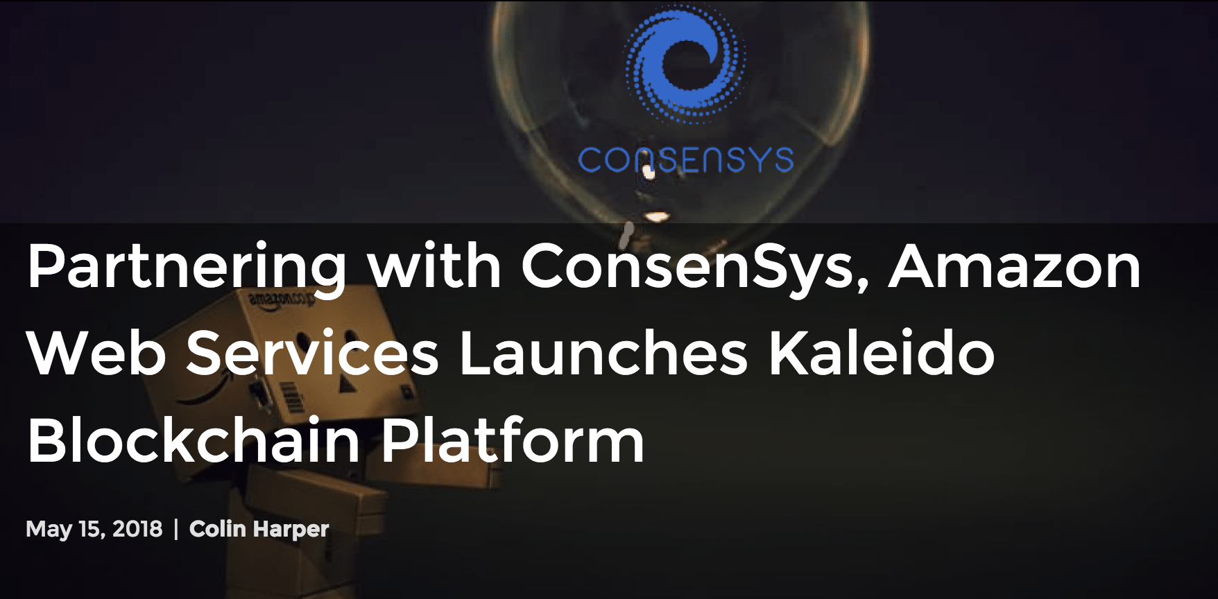 "https://coincentral.com/partnering-with-consensys-amazon-web-services-launches-kaleido-blockchain-platform/      Introducing Kaleido, Amazon's Foray into Blockchain  Amazon just made its entrance into the blockchain industry, and it's opening the door with a platform that's meant to make it easier for businesses and enterprises to implement the nascent technology.  The web services monolith has partnered with the  Ethereum  incubator ConsenSys to bring the Kaleido Blockchain Business Cloud platform, ""an all-in-one blockchain platform aimed at speeding and simplifying enterprise use of the technology,"" to the Amazon Web Service's Marketplace.  According to an official  press release  by Amazon, ""Kaleido provides a full solution for those ready for something more than do-it-yourself scripts or templates, streamlining the process of standing up secure, private blockchain networks without sacrificing the ability to customize the environment. These private networks offer all the benefits of the underlying blockchain technology, while maintaining the necessary levels of security and performance.""  In essence, Kaleido was developed to lower those barriers of entry, both technical and financial, that have kept organizations from applying or experimenting with blockchain technology for their business operations.  The brain-child of ConsenSys, Kaleido runs on Amazon's Web Services (AWS) and is available on the AWS marketplace. Featured in AWS's suite of applications, Kaleido is compatible with Amazon's existing web services, including Amazon EMR, Amazon Athena, and Amazon Virtual Private Cloud, among others.  A Hybrid Approach to Enterprise Blockchain Networks  When attempting to implement and deploy blockchain networks, companies often run into insurmountable or costly obstacles. Confronted with a technical labyrinth of consensus mechanisms, governance models, and coding languages–not to mention the lexicon of technical jargon that accompanies these–implementing blockchain solutions can become more of a hassle than the problems they seek to fix.  ""Customers are running into a common set of problems and pitfalls as they invest significant time and money in their blockchain projects,"" Steve Cerveny, ConsenSys' enterprise lead and founder of the Kaleido platform explains. ""So, we assembled a team to build a platform that pulls together—in a simple, cohesive, and unified way—the right experiences and tools. We knew we needed to design a platform from the business problems down, since that is where the enduring problems are that companies face in the blockchain space.""  Kaleido's private-public approach to system operations looks to provide organizations with the immutable security of a public blockchain without compromising the flexibility of a private network. This ""dual mode"" allows Kaleido's users to link a private, permissioned system built on Ethereum to the public, permissionless Ethereum network at large. Actions on the private chain, therefore, are anchored to the Ethereum  mainnet , making it easy to publicly verify any data or information should a conflict arise internally within an organization's private system.  In addition to these relay anchors, Kaleido features integrated analytics and support for various consensus mechanisms (e.g., IBFT, RAFT, POA) and protocol options (e.g., Geth and Quorum).   A Step Towards Accessibility    In 2015, ConsenSys attempted to bring similar enterprise solutions to the forefront of the tech industry's attention with Ethereum Blockchain as-a-Service (E BaaS) through Microsoft's cloud-powered Azure. E BaaS, though, was a sandbox service that offered its users a set of scripts and basic tools to begin building their own blockchain applications.  Kaleido takes E BaaS's precedent a step further. More than mere scripts and tools, it is a fully-functional, ready-to-deploy blockchain platform available through Amazon's cloud. This will allow entities with no former blockchain experience or coding talent to launch solutions that meet their privacy, compliance, and sclability needs while retaining the blockchain's public assurance of security and reliability.  As the first ever blockchain software as a service built on Ethereum, Kaleido could be an augur for the future of blockchain's mainstream and conventional adoption.  ""Since the inception of ConsenSys in 2014, we have been on a mission to accelerate the adoption of Ethereum and all the benefits that decentralization can bring to business and societies around the world,"" states Joseph Lubin, co-founder of Ethereum and founder of ConsenSys. ""We believe Kaleido will become a de-facto standard and a global blockchain platform for business, providing an underlying foundation that until today was missing from the enterprise toolkit.""   Home  »  Articles  » Partnering with ConsenSys, Amazon Web Services Launches Kaleido Blockchain Platform    CoinCentral's owners, writers, and/or guest post authors may or may not have a vested interest in any of the above projects and businesses. None of the content on CoinCentral is investment advice nor is it a replacement for advice from a certified financial planner."