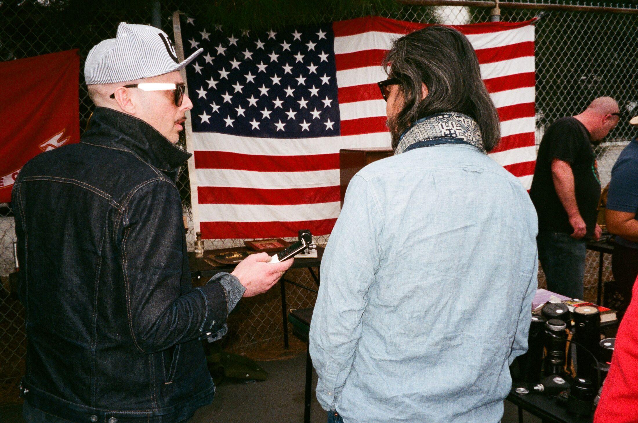 Joe Jarvis on the left interviewing Yuki Matsuda.