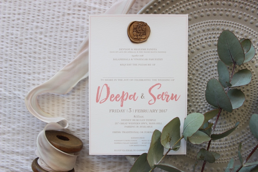 -  When you want to add that something special to your event stationery without going over the top, this collection is perfect.  A fusion of contemporary brush script with a traditional wax seal finish.There is something just so beautiful about this understated design.